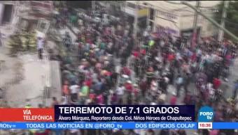 Realizan Labores Rescate Niños Héroes Chapultepec