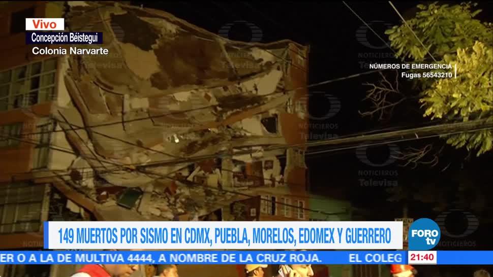 Continúan el colapso de edificios en la del Valle tras sismo