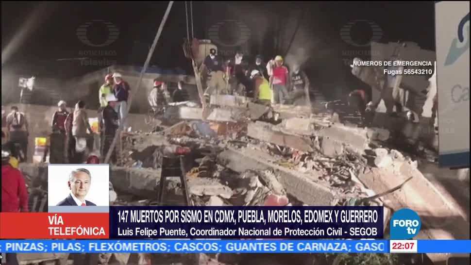 Actualizan 147 Número Muertos Sismo México