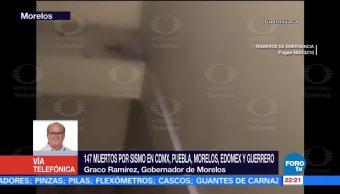 Morelos cuenta 33 albergues damnificados sismo Graco Ramírez