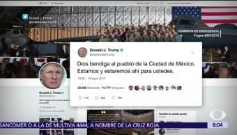 Trump expresa solidaridad a México tras sismo del 19 de septiembre