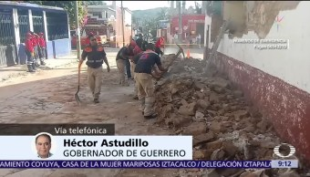 Héctor Astudillo hace recuento de daños en Guerrero tras sismo