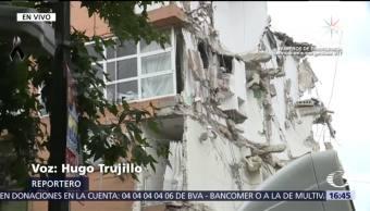 Retiran escombros en edificio colapsado en Concepción Beistegui