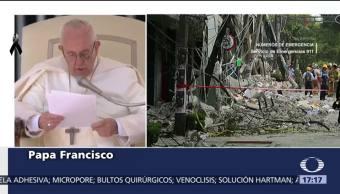 Papá Francisco envía mensaje por las víctimas del sismo en México