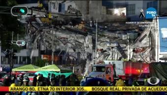 Siguen trabajos de rescate en edificio que colapsó en Álvaro Obregón