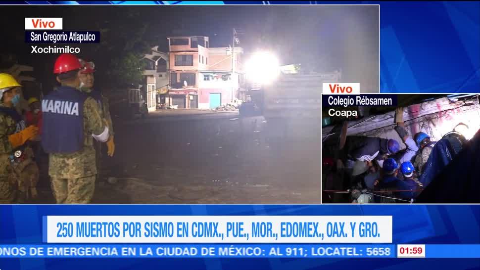 Derrumbes en San Gregorio Atlapulco en la CDMX