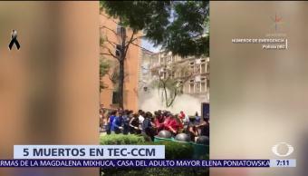 Suman 5 muertos por sismo en el Tec de Monterrey campus CDMX