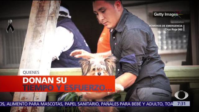 Voluntarios inundan calles de la CDMX tras sismo