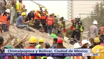 Detectan a persona viva entre escombros de fábrica textil colapsada en CDMX