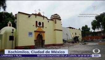 Desalojan decenas de casas en San Gregorio, Xochimilco, tras sismo