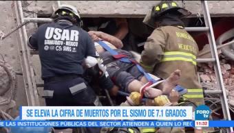 Se eleva cifra de muertos por sismo con epicentro en Morelos