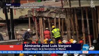 Marina confirmó Noticieros Televisa que existía una niña al interior colegio Rébsamen