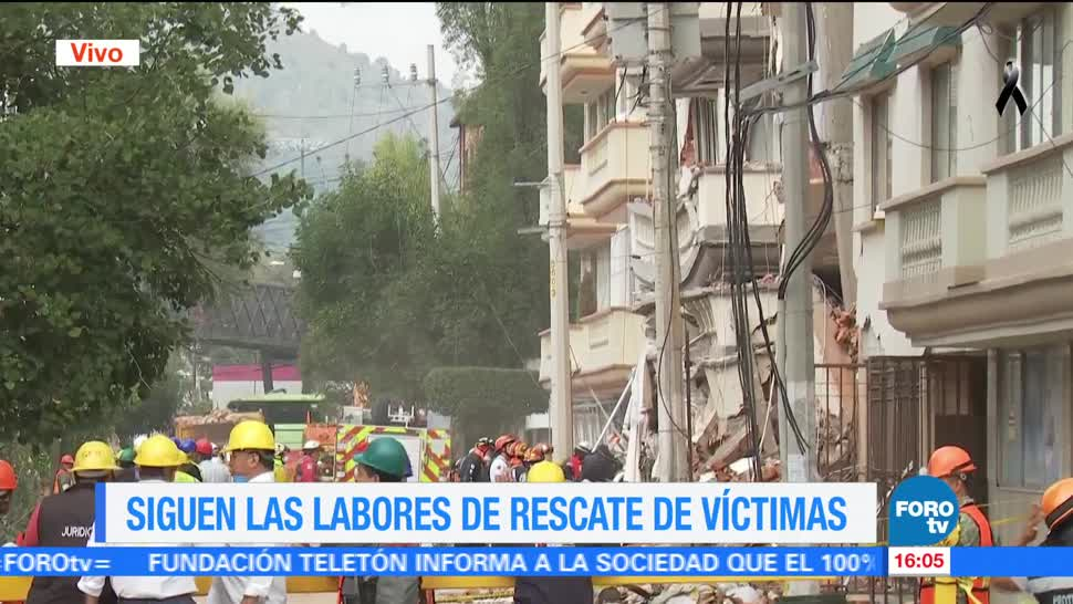 Sin descanso, tareas de rescate en Lindavista