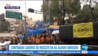 Reanudan labores de rescate por el sismo en la Condesa