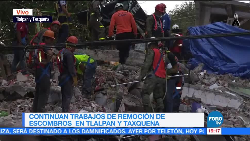 Colapso de multifamiliar en Tlalpan y Taxqueña deja cuatro muertos
