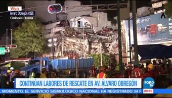 Piden lámparas de minero para labores de rescate edificio de Álvaro Obregón