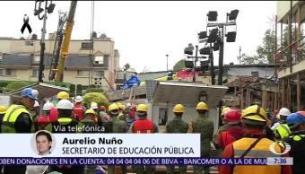 Aurelio Nuño dice que tras el sismo regreso clases será escalonado