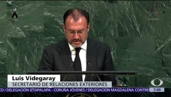 En la ONU, Videgaray agradece apoyo internacional tras sismo