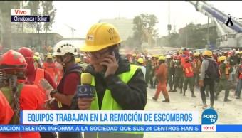 Más de 500 personas remueven escombros en derrumbe de la colonia Obrera