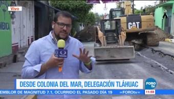 Terremoto agudiza grietas en Tláhuac; hay mil 500 casas afectadas