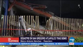 Colapsan al menos seis inmuebles por el sismo en calzada de Miramontes