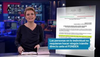 Segob pide no entregar información para presunta ayuda de Fonden