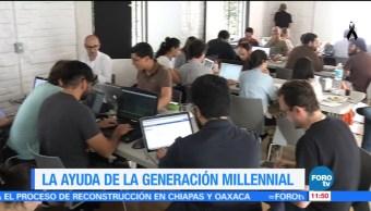 Ayuda de la generación millennial ante el sismo del 19-S