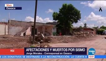 Afectaciones y muertos por sismo en Oaxaca tras sismo del 7-S