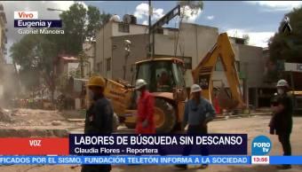 Imágenes exclusivas de maniobras en zona de escombros en la Del Valle