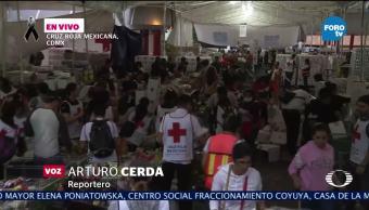 Voluntarios continúan labores de recolección de víveres en Cruz Roja