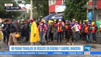 No paran trabajos de rescate en Eugenia y Gabriel Mancera