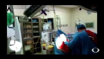 En medio del terremoto, médico termina cirugía de cerebro