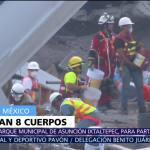 Rescatan 8 cuerpos entre los escombros del edificio de Álvaro Obregón