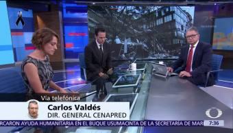 Carlos Valdés, director Cenapred, habla sobre los sismos de septiembre en México