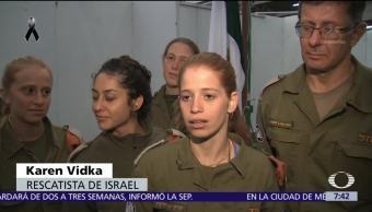 Rescatistas de Israel trabajan sin descanso entre escombros de la CDMX
