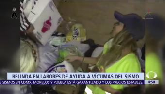 Belinda convierte sus redes en plataformas para ayudar a damnificados del sismo