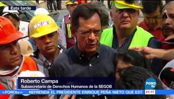 Campa se reúne con familiares de los atrapados en Álvaro Obregón 286