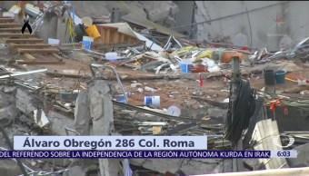 Rescatistas aún buscan sobrevivientes en Álvaro Obregón 286