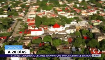 Así se ven Ixtalatepec y Juchitán desde el aire, tras el sismo