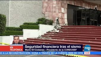 Seguridad financiera tras sismo en CDMX