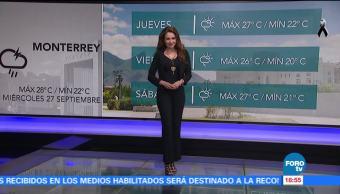 El clima con Mayte Carranco del 27 de septiembre