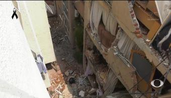 Edificios derrumbados generan daños colaterales