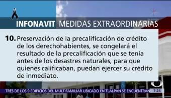 Infonavit anuncia medidas extraordinarias para derechohabientes en zonas afectadas tras sismos