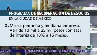 Mancera anuncia programa emergente para empresarios afectados por sismo en CDMX