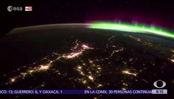Captan aurora boreal desde el espacio