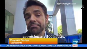 Eugenio Derbez crea fondo para construir casas