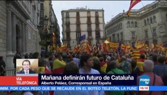 Protestas a favor y en contra de referéndum ilegal en Cataluña
