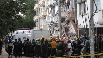 Concluyen labores de rescate en edificio colapsado en Lindavista