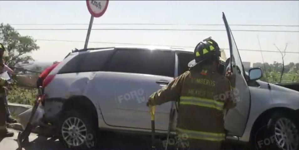 choque multiple en la carretera mexico toluca provoca caos