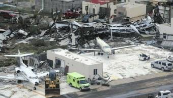 Aeropuerto San Martin queda devastado paso Irma